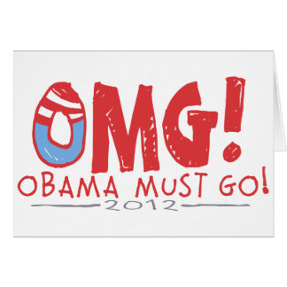 Obama Must Go 2012 Greeting Cards