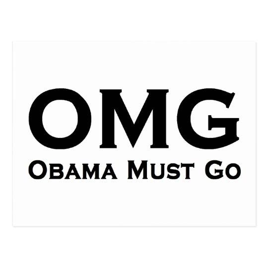 Obama Must Go Anti Obama Postcard