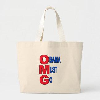 Obama Must Go Large Tote Bag