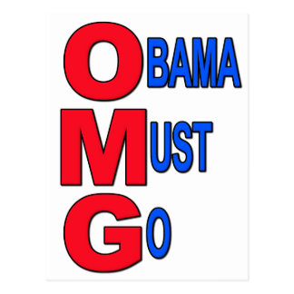 Obama Must Go Postcard