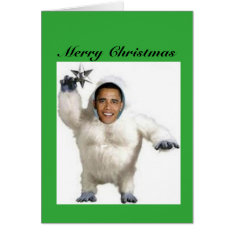 Obama-nable Snowman Christmas Card at Zazzle