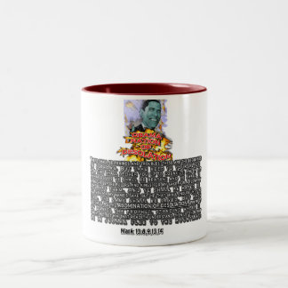 Obama Nation ABOMINATION OF DESOLATION Two-Tone Coffee Mug