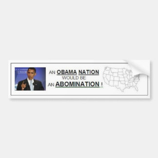 Obama Nation Bumper Sticker
