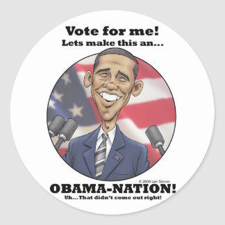 Obama-Nation Classic Round Sticker