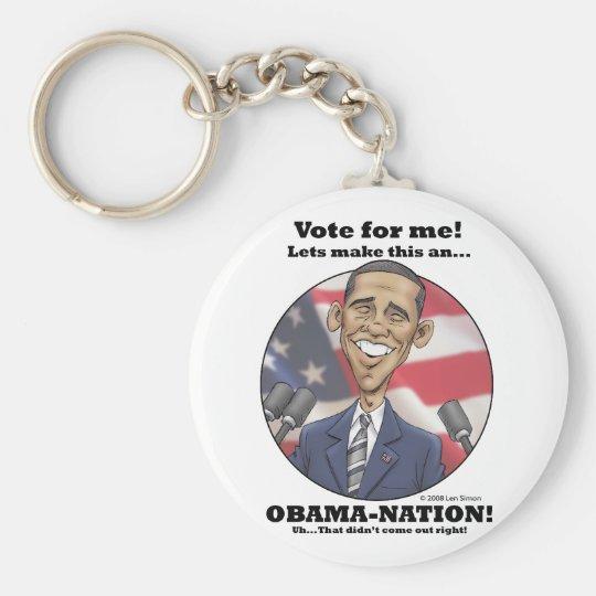 Obama-Nation Keychain