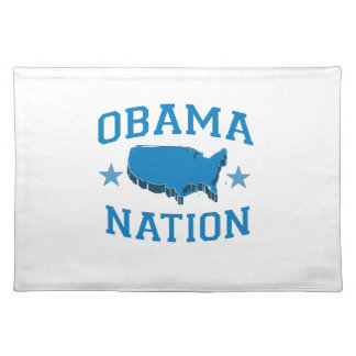OBAMA NATION -.png Cloth Placemat