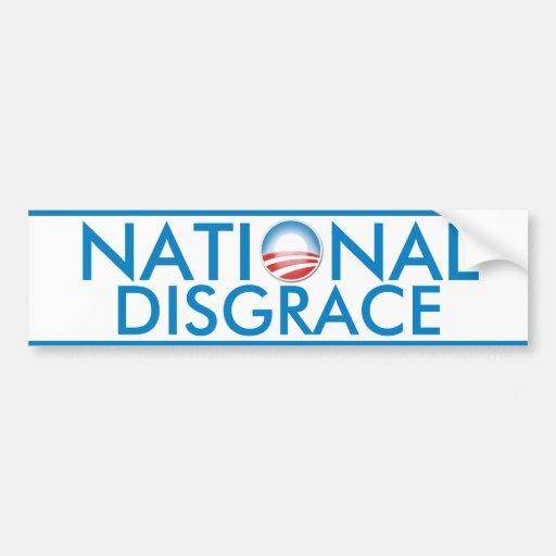 Car Sticker Maker >> Obama National Disgrace Car Bumper Sticker | Zazzle
