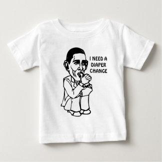Obama necesita un cambio del pañal camisetas