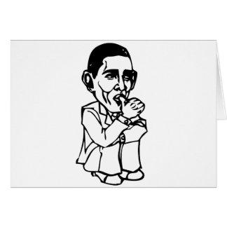 Obama necesita un cambio del pañal tarjeta de felicitación