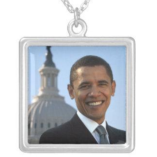 OBAMA (Necklace) Square Pendant Necklace