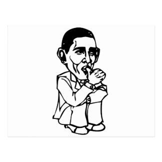 Obama needs a diaper change postcard