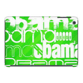 Obama; Neon Green Stripes iPad Mini Covers