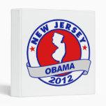 Obama - new jersey 3 ring binder
