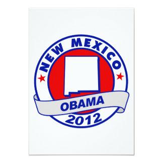 Obama - new mexico 5x7 paper invitation card