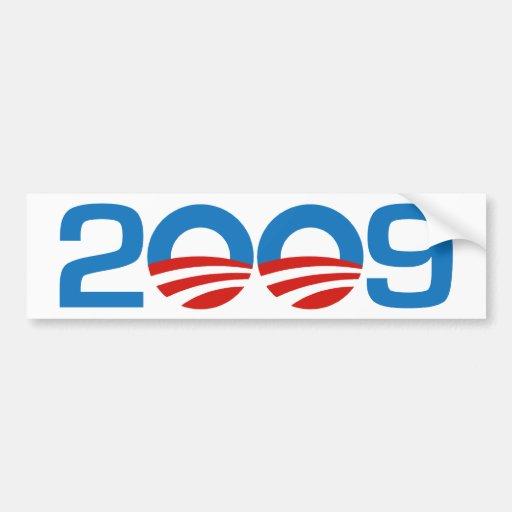 Obama New Year 2009 Bumper Sticker Car Bumper Sticker