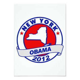 Obama - new york 5x7 paper invitation card