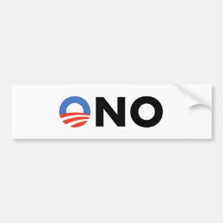Obama ningún Bama Nobama oh ningún Obama Etiqueta De Parachoque