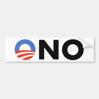 Obama ningún Bama Nobama oh ningún Obama Pegatina De Parachoque