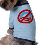 Obama ningún logotipo camisa de mascota