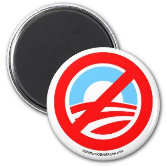 Obama ningún logotipo imán redondo 5 cm