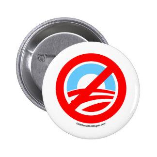 Obama ningún logotipo pin redondo 5 cm
