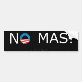 ¡Obama ningún Mas! Pegatina para el parachoques Pegatina Para Auto