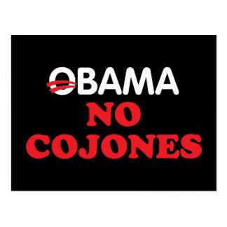 Obama No Cojones Postcard