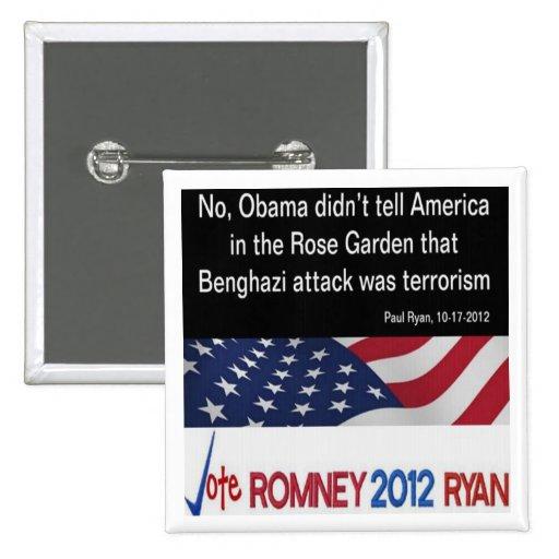 Obama no llamó el botón del terrorismo del ataque  pins
