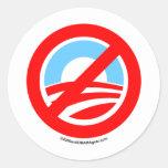 Obama No Logo Sticker
