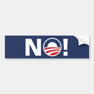 """Obama, """"NO!"""" Pegatina para el parachoques Pegatina De Parachoque"""