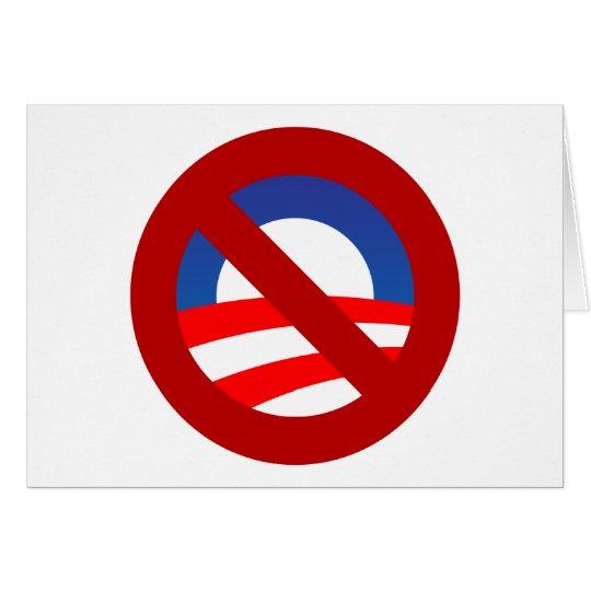 Obama + no sign card