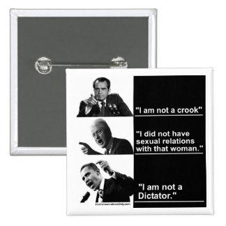 "Obama ""no soy dictador "" pins"
