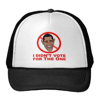Obama: No voté por el Gorros