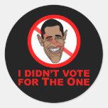 Obama: No voté por el Pegatina Redonda
