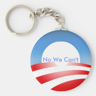 Obama No We Can't Keychain