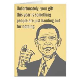 Obama Nobel Prize Card