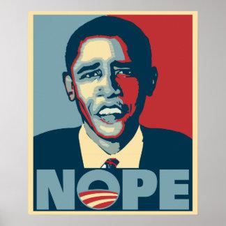 Obama Nope Póster
