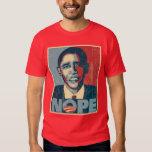 Obama Nope se descoloró Polera