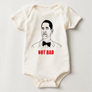 Obama not bad meme rage face comic baby bodysuit