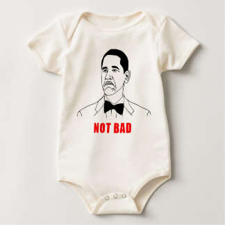 Obama not bad meme rage face comic baby bodysuits