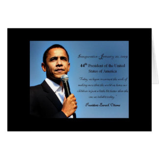 Obama Notecard - 44th President Stationery Note Card