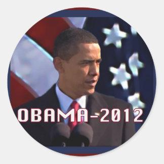 Obama noviembre de 2012 pegatina redonda