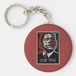 Obama nuestro tiempo llavero redondo tipo pin