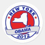 Obama - Nueva York Etiquetas