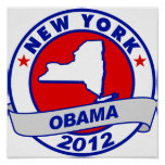 Obama - Nueva York Poster