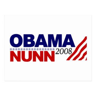 Obama Nunn 2008 Postcard