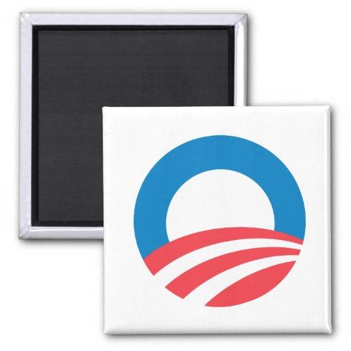 Obama O 2 Inch Square Magnet