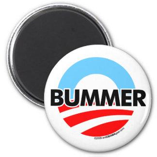 Obama O Bummer Logo 2 Inch Round Magnet