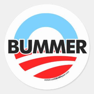 Obama O Bummer Logo Round Sticker