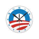 Obama 'O' Logo Wall Clock